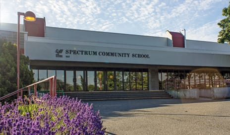 front entrance of spectrum community school