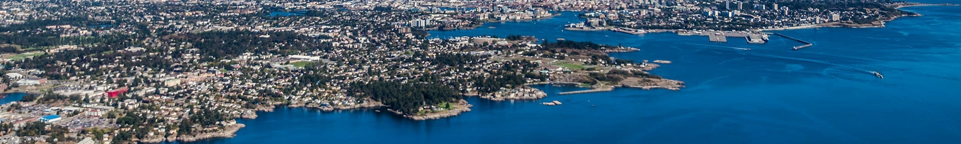 aerial view of Victoria BC